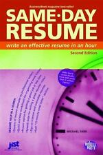 Same-Day Resume (Help in a Hurry) by Michael Farr