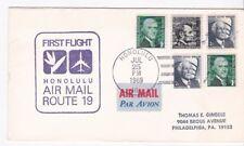 FIRST FLIGHT AM-19 HONOLULU HAWAII - MINNEAPOLIS, MINN JULY 25 1969