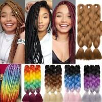 "24""Crochet Twist Winding Hair Extension Real Long Jumbo Braiding Box Braids Hair"