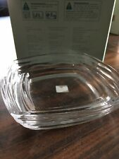 PartyLite P9275 Oceanscape Candle Holder Glass Dish for Pillar or Ball Candles