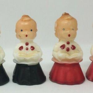 Vintage Gurley 6 Piece Choir Boy Candle Set Christmas Wax Religious Catholic