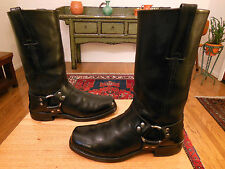 Vtg FRYE Men's Black Leather 12R Harness, Biker, Urban Hipster Boots 8M  USA!