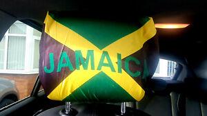 Jamaica flag car seat headrest cover