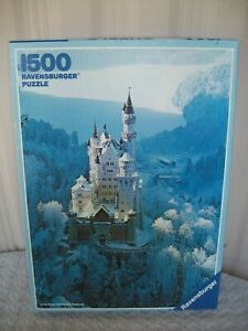 Ravensburger 1500 pc Puzzle ~ Neuschwanstein In Winter ~ 59.6 cm x 84.1 cm