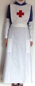 VAD Uniform Style Nurse Handmade WW1 WWI Historical Costume Apron oversleeves