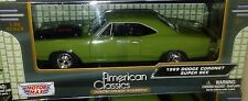 1969 Dodge Coronet Super Bee Coupe Die-cast Car 1:24 Motormax 8 inch Green