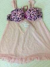 Yamamay - Baby doll con coppe imbottite mis.2^ col. Rosa chiaro NUOVO!!!