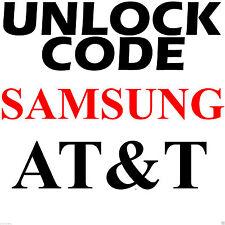 AT&T ALL SAMSUNG Galaxy S S2 S3 S4 S5 S6 Note Rugby Mega 2 Code Unlock Service