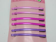 24 Mixed Color Metal Long flat Top Bobby Hair Pin Clips Barrette 62X4mm