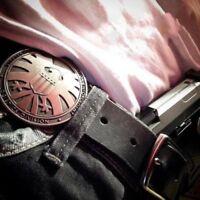 THE AGENTS OF SHIELD S.H.I.E.L.D. METAL MONEY CLIP BADGE LOGO FULL SIZE REPRO