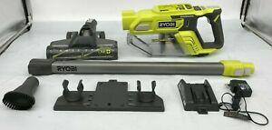 RYOBI P724 Cordless Stick Vacuum Cleaner 18-Volt, GR M