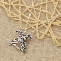 Vintage Necklace Vikings Odin's Ravens Pendant Chain Decor Jewelry Unisex Gift