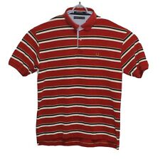 Tommy Hilfiger Mens Polo SS XL Red Blue and White Stripes