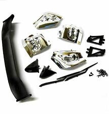 23310T4 RC 1/10 Scale Car Body Shell Spoiler Light Bucket Wipers Clip Kit Chrome
