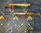 Two Vintage Mid Century wall mount swing arm lamps Koch and Lowy Kovacs Style