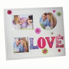 """San Valentino """" Love """" 3 Apertura Ricamato Cornice Portafoto in Scatola Regalo"""