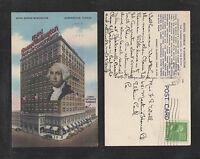 1944 HOTEL GEORGE WASHINGTON JACKSONVILLE FLA POSTCARD