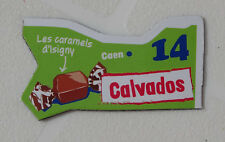 14 CALVADOS MAGNET LE GAULOIS CARTE NOUVELLE COLLECTION DEPARTAIMANT