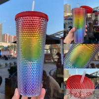 Starbucks China Valentine's Day Rainbow Cup Siren-logo Diamond Studded Tumbler