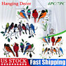 Multicolor Stained Acrylic Birds-On-A-Wire Window Panel Hanging Suncatcher decor