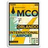 2 x 10cm Orlando Airport Vinyl Stickers - Florida Sticker Laptop Luggage #17142