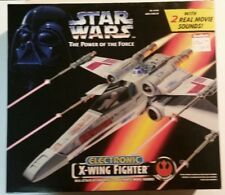 STAR WARS POWER OF THE FORCE Kenner Toy ELECTRONIC X-WING FIGHTER 1995 NIB