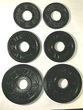 Pendlay Metal Olympic Change Weight Plates (1 Pair) .5 KG, 1 KG, 2 KG - 7 KG Set