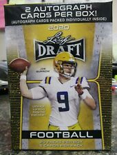 2020 Leaf Draft Football Blaster Box Factory Sealed - 2 Autographs