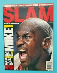 MICHAEL JORDAN CHICAGO BULLS - SLAM BASKETBALL MAGAZINE - 1995 - POSTER INCLUDED