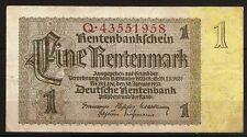 Billet 1 Rentenmark. Deutche Rentenbank. Berlin 30 Januar 1937
