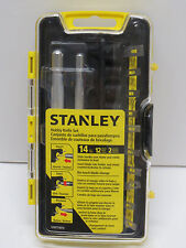 STANLEY 14Piece Hobby KNIFE set in case; No-touch blade change; Brand NEW Unused