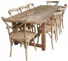 OAK COLOUR RUSTIC 1.84m DINING TABLE - FARMHOUSE STYLE  PROVINCIAL FRENCH