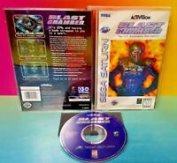 Blast Chamber 3-D Deathmatch  - Sega Saturn Game Complete Rare Manual + Case