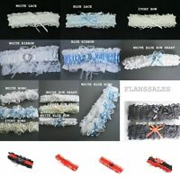 wedding garter bridal Ladies garters ribbon - lace blue - ivory - white - red