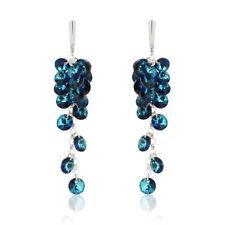 Sterling Silver Long Earrings Hooks made with 6428 Rivoli Swarovski® Crystals