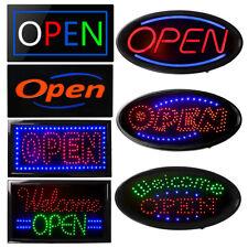 Boshen Neon Led Open Light Animated Motion Business Sign Flash Bright Square/Ova