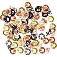 Bunte Ösen (Eyelets) Nieten aus Eisen (vernickelt) für Ösenzange Ø 5 mm 100-tlg,
