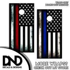 Red and Blue AMERICAN FLAG Cornhole Board Decal Wraps Vinyl Sticker USA Combo