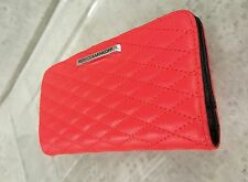 Rebecca Minkoff Red Sophie quilted leather wallet New
