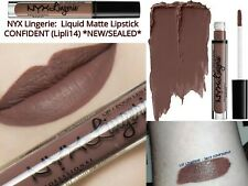 NYX: Liquid Matte Lipstick CONFIDENT (Lipli14) (Purple Brown mix) *NEW/SEALED*