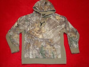 Scent Blocker Boys Size Large Camo Fleece Hoodie Hunting Sweatshirt