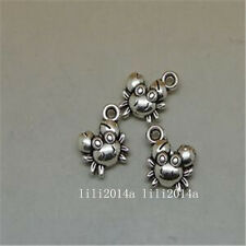 20pc Tibetan Silver crab Charm Beads Pendant accessories Findings  PL720