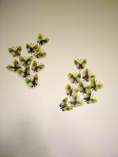 Vintage Metal Butterfly Wall Decor painted