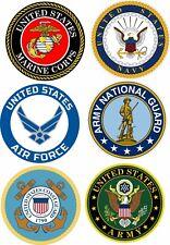 Usmc, Army, Navy, Air Force, National Guard & Coast Guard Aluminum Sign 3 Sizes