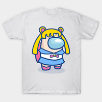 Among Us Sailor Moon Japanese Anime Manga Parody Funny White T-Shirt S-6XL