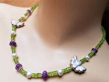Echtschmuck-Halsketten & -Anhänger aus Feinsilber Amethyst für Damen