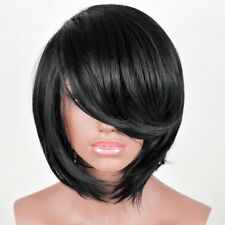 Sexy Lady Short Straight Black Synthetic Hair Women's Party Wigs + Free Wig Cap
