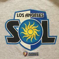 Los Angeles Sol T Shirt Sz 2XL XXL Women's Professional Soccer WPS Heather Gray