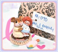 ❤️Wee Forest Folk M-070 Me & Raggedy Ann Blue Doll Cream Mouse M-70 Retired❤️