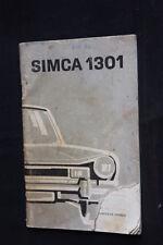 Instructieboekje Simca 1301